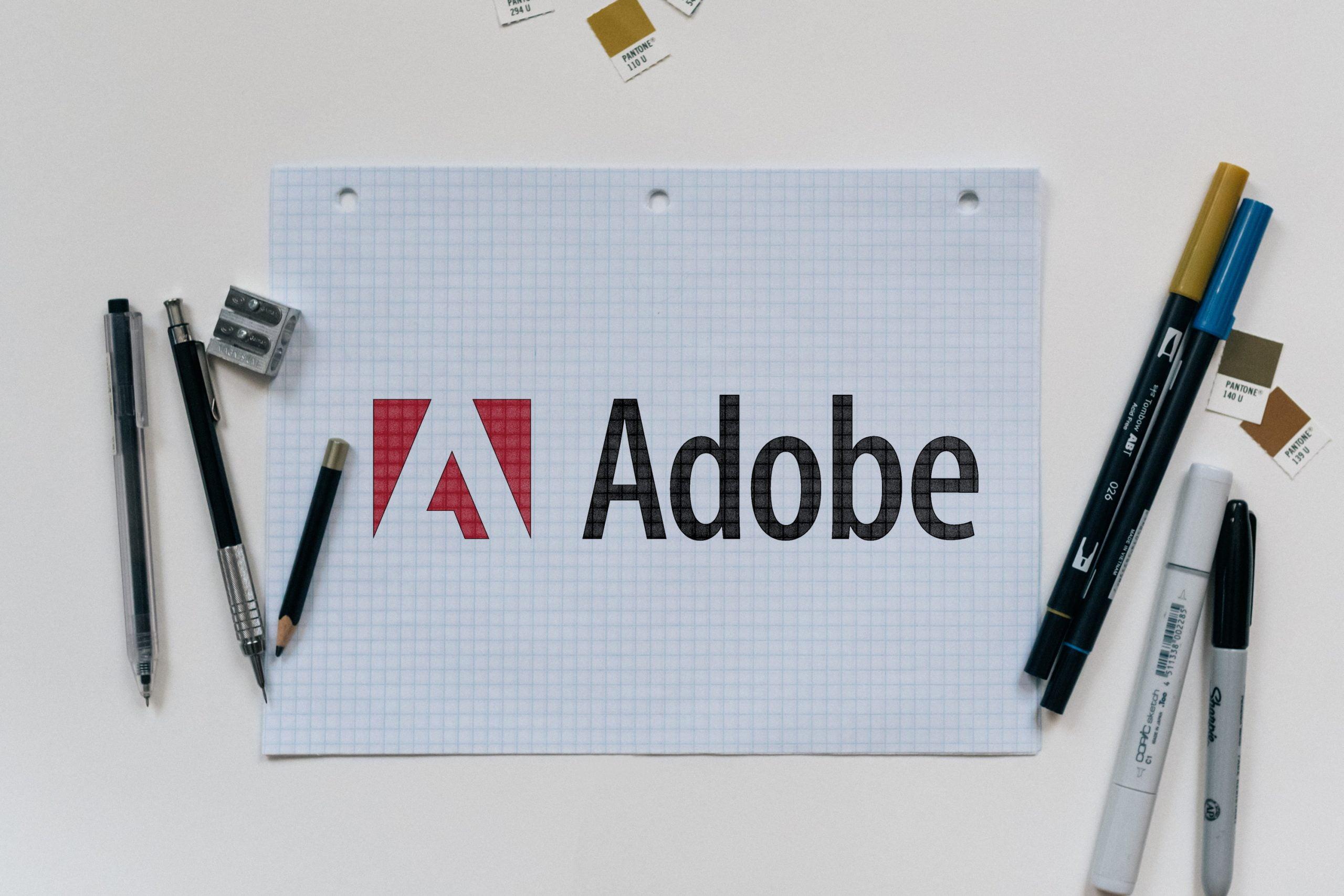 Grid Paper Colored Logo Mockup