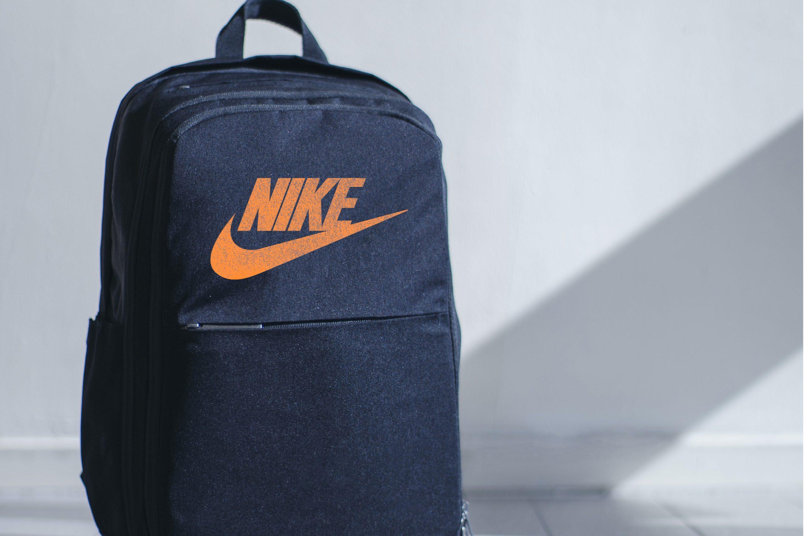 Free PSD Demanded Jeans Bag Mockup