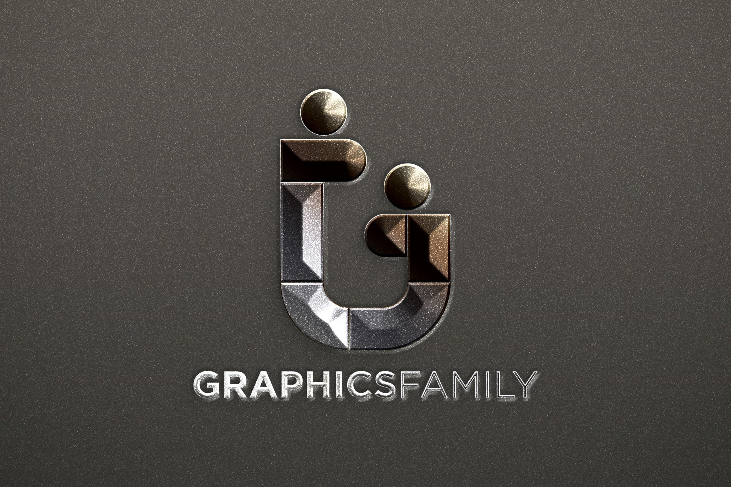 Free Silver Shine Metallic Logo Mockup in Photoshop