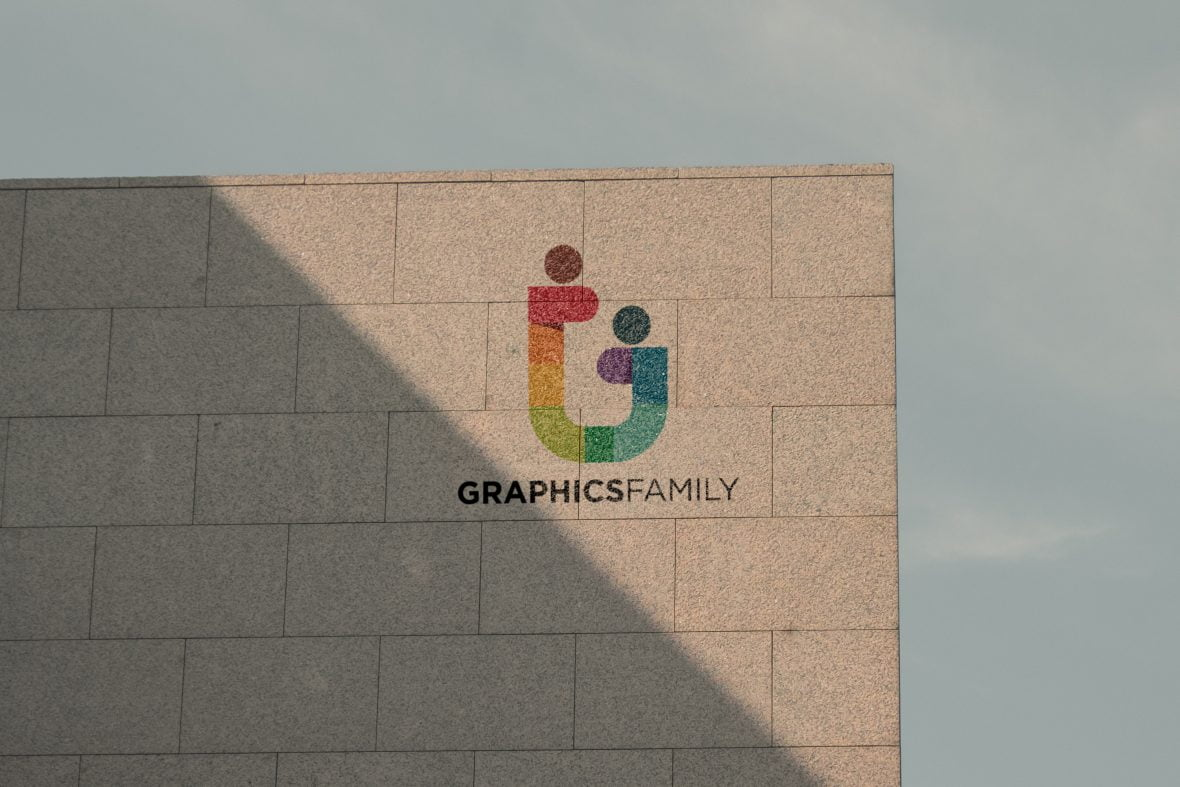 Free Sunset Wall Printed Logo Mockup
