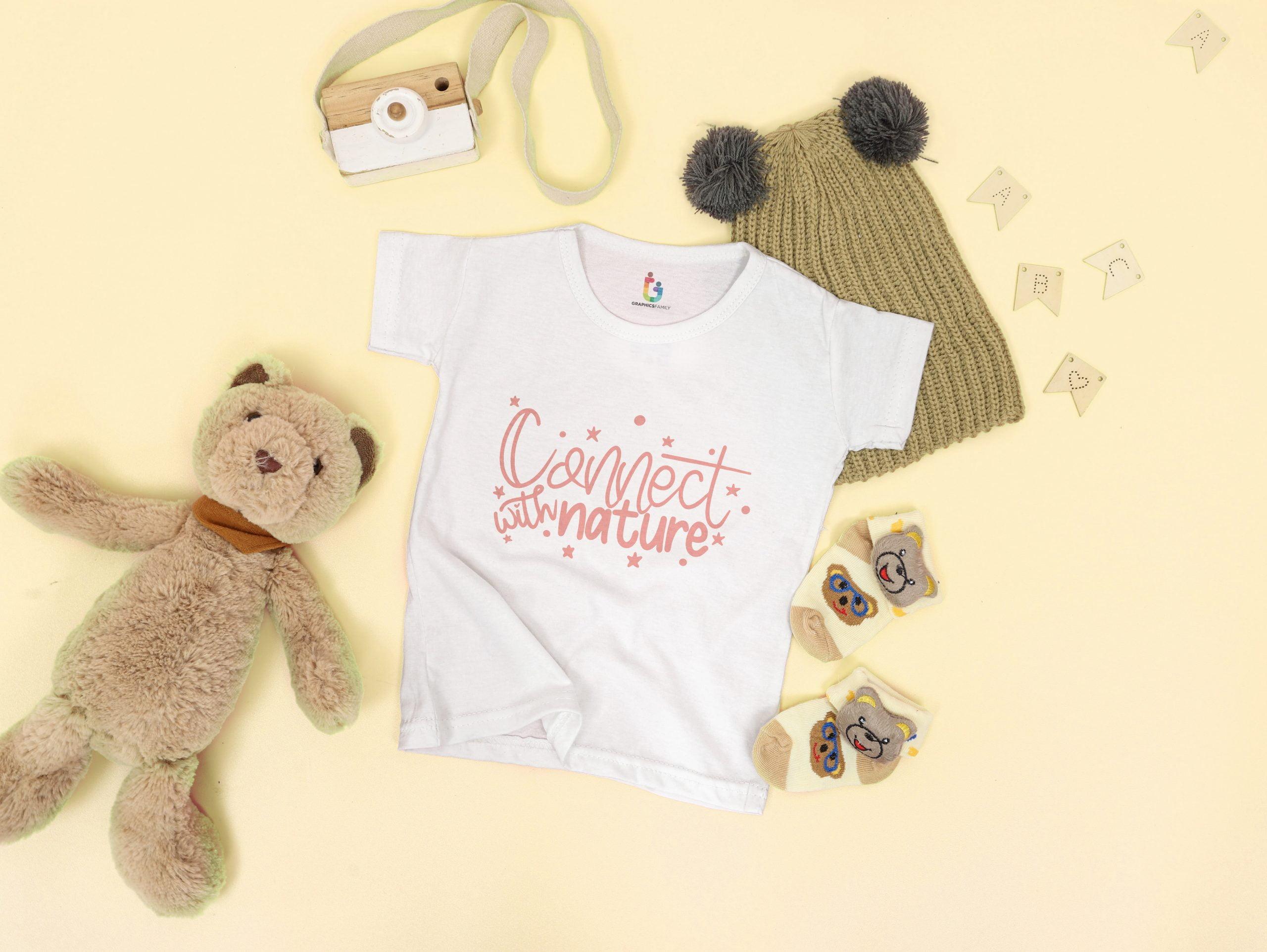 Free Tshirt Mockup Baby Girl