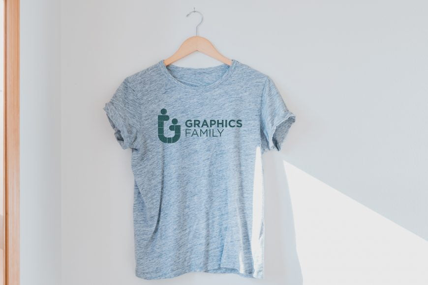 Haze Gray T-Shirt Logo Mockup