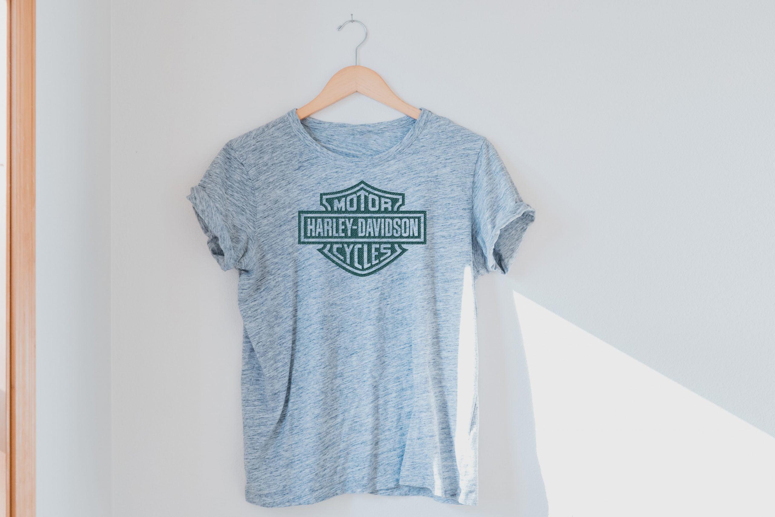 Haze Gray T-Shirt Logo Mockup in Photoshop