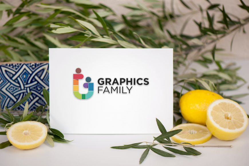 Lemonade Card Logo Mockup