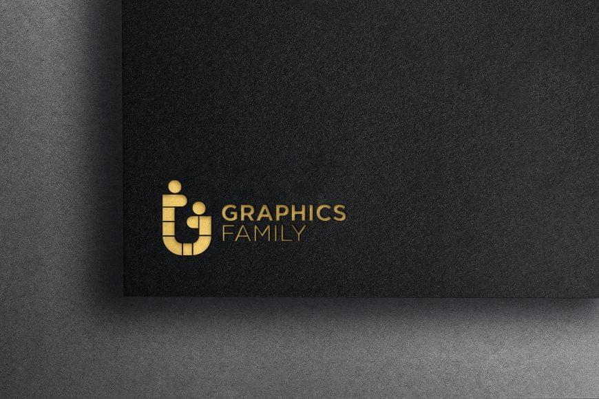 Luxurious Gold Embossed Logo Mockup
