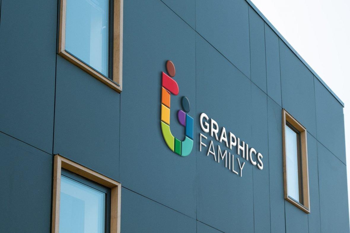 Luxury Blue Building Logo Mockup