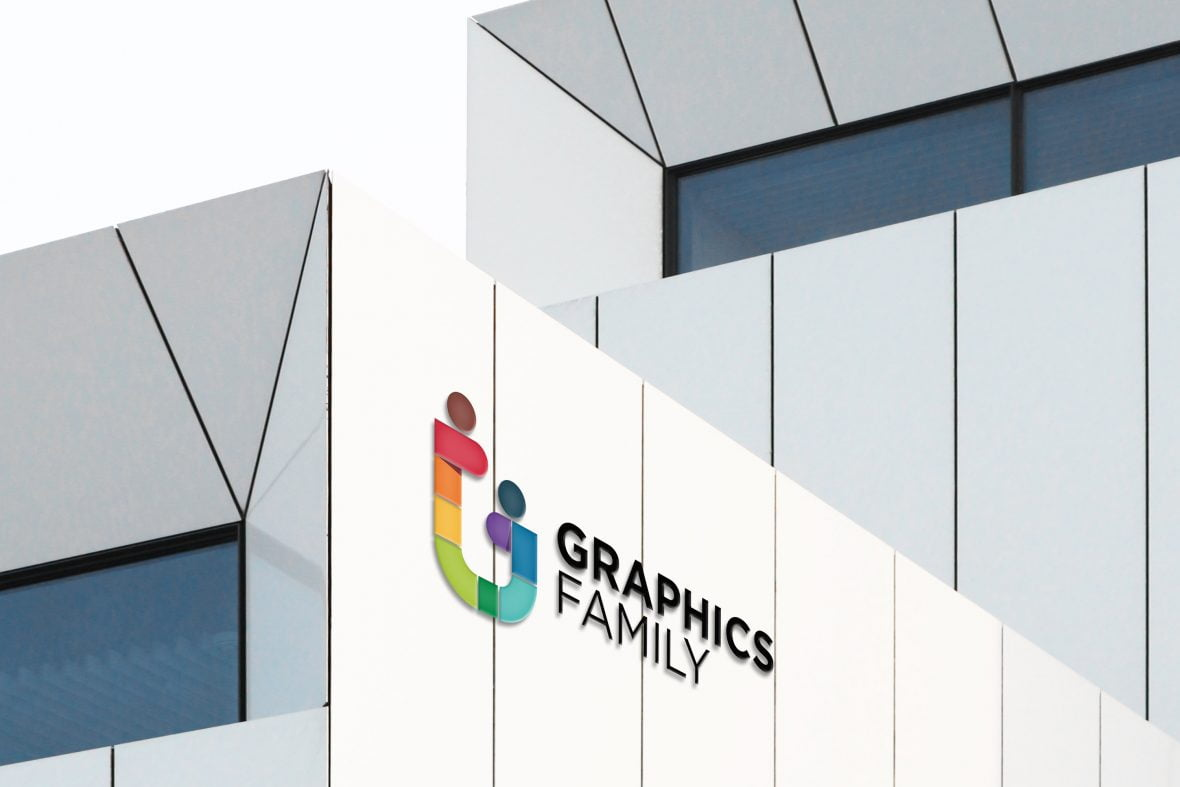 Luxury White Building Logo Mockup