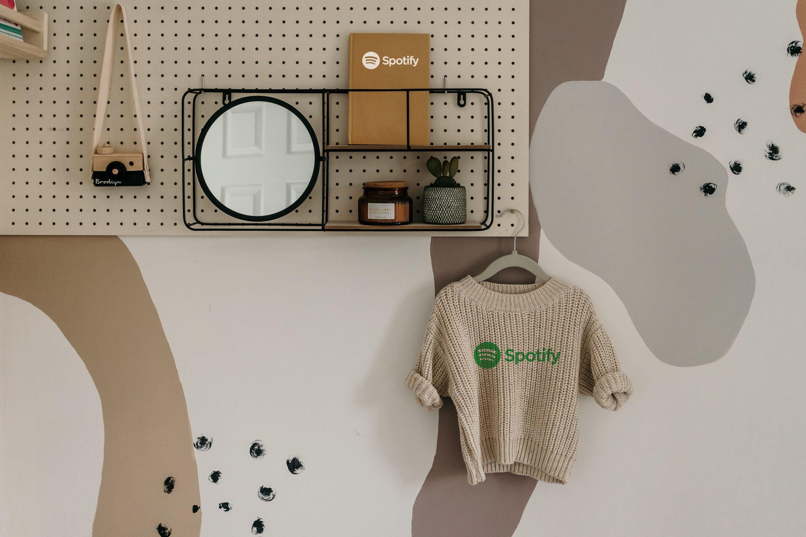 Minimal Sweater And Book Logo Mockup Download PSD