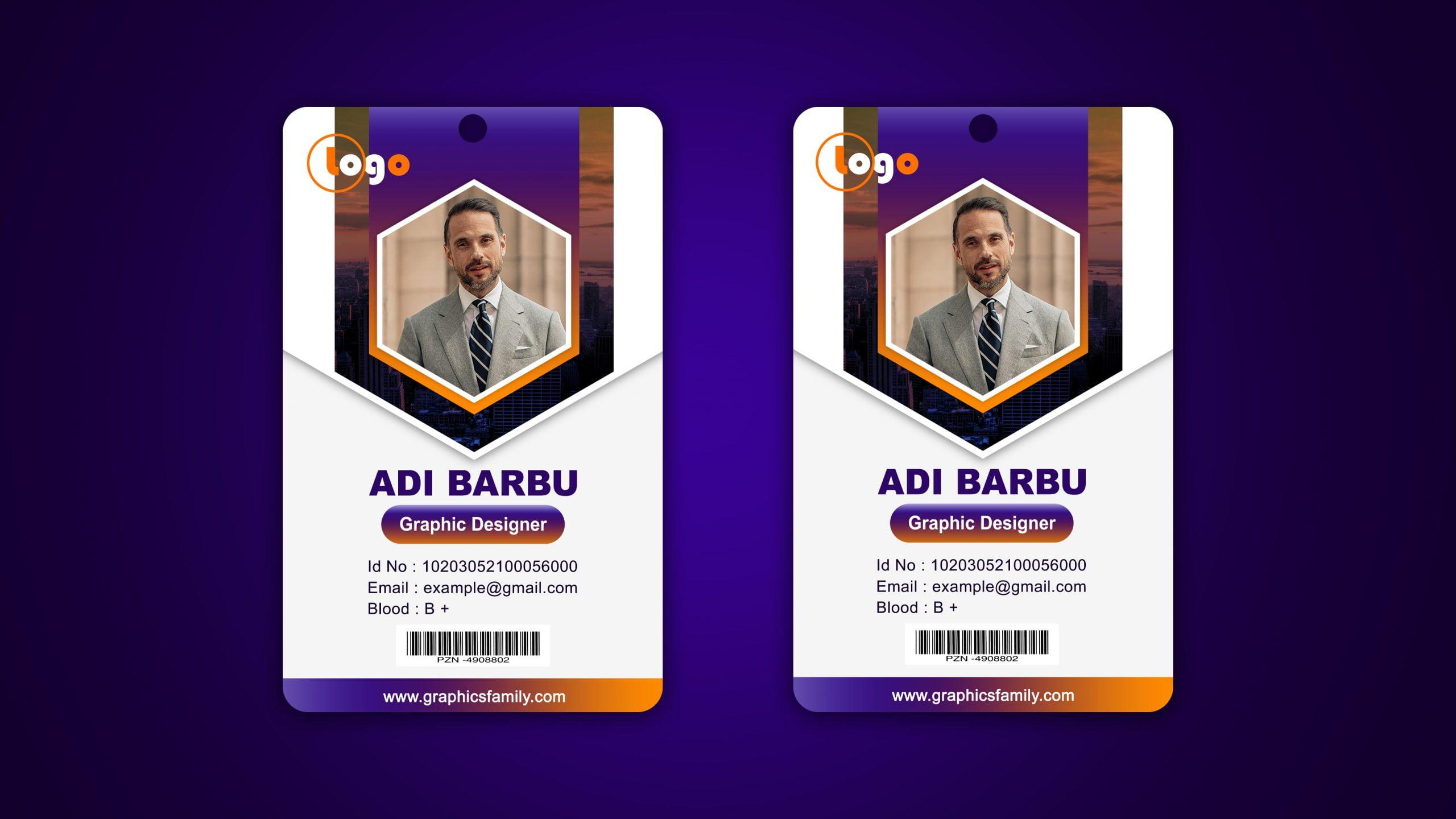Modern Company Id Card Design
