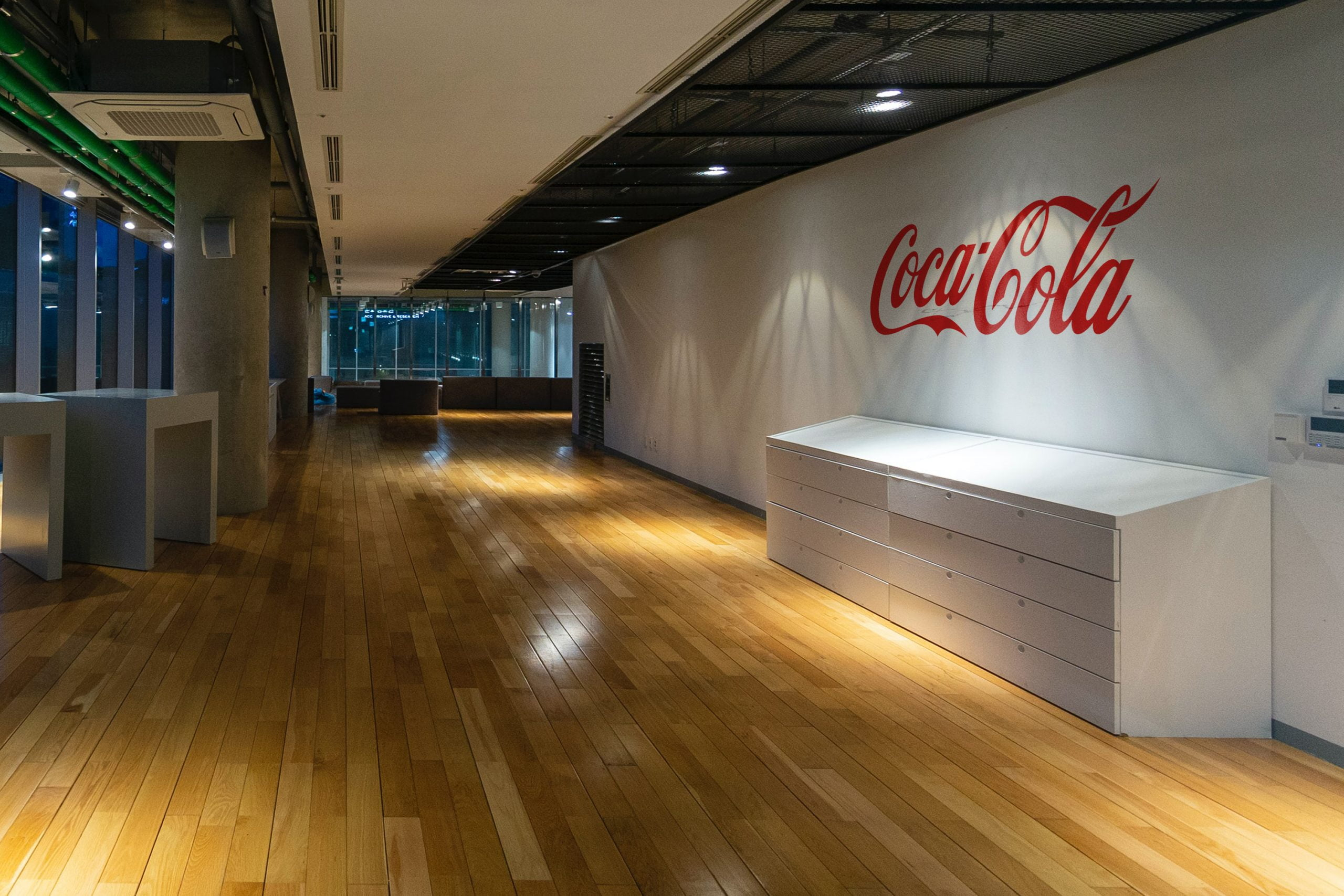 Office Corridor Wall Logo Mockup