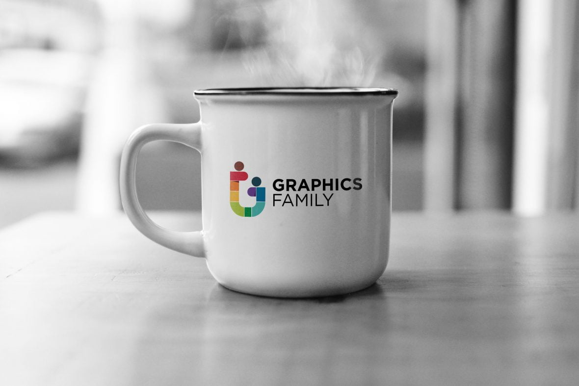 Office Mug Logo Mockup