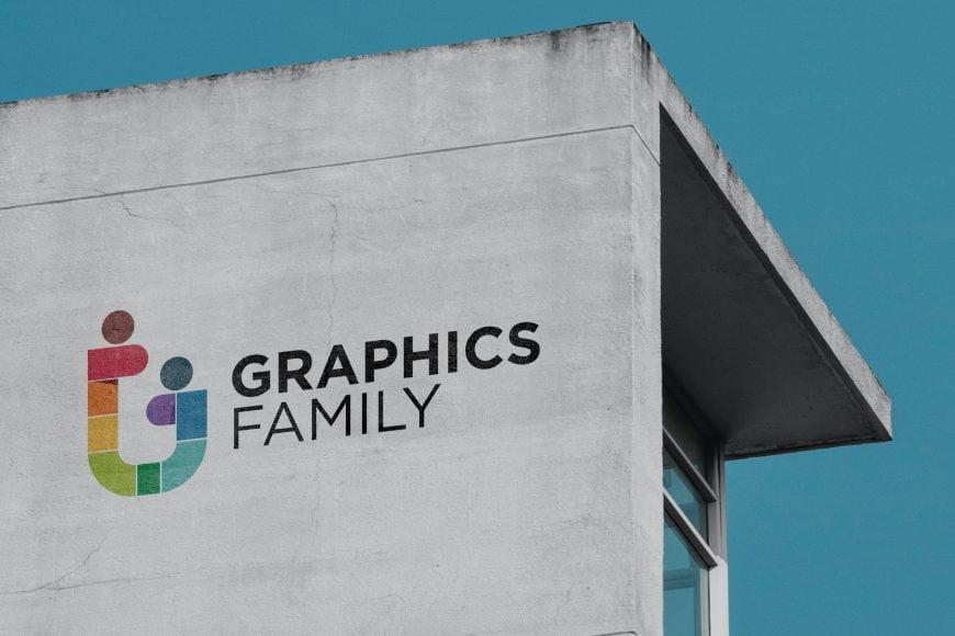 Old White building Logo Mockup