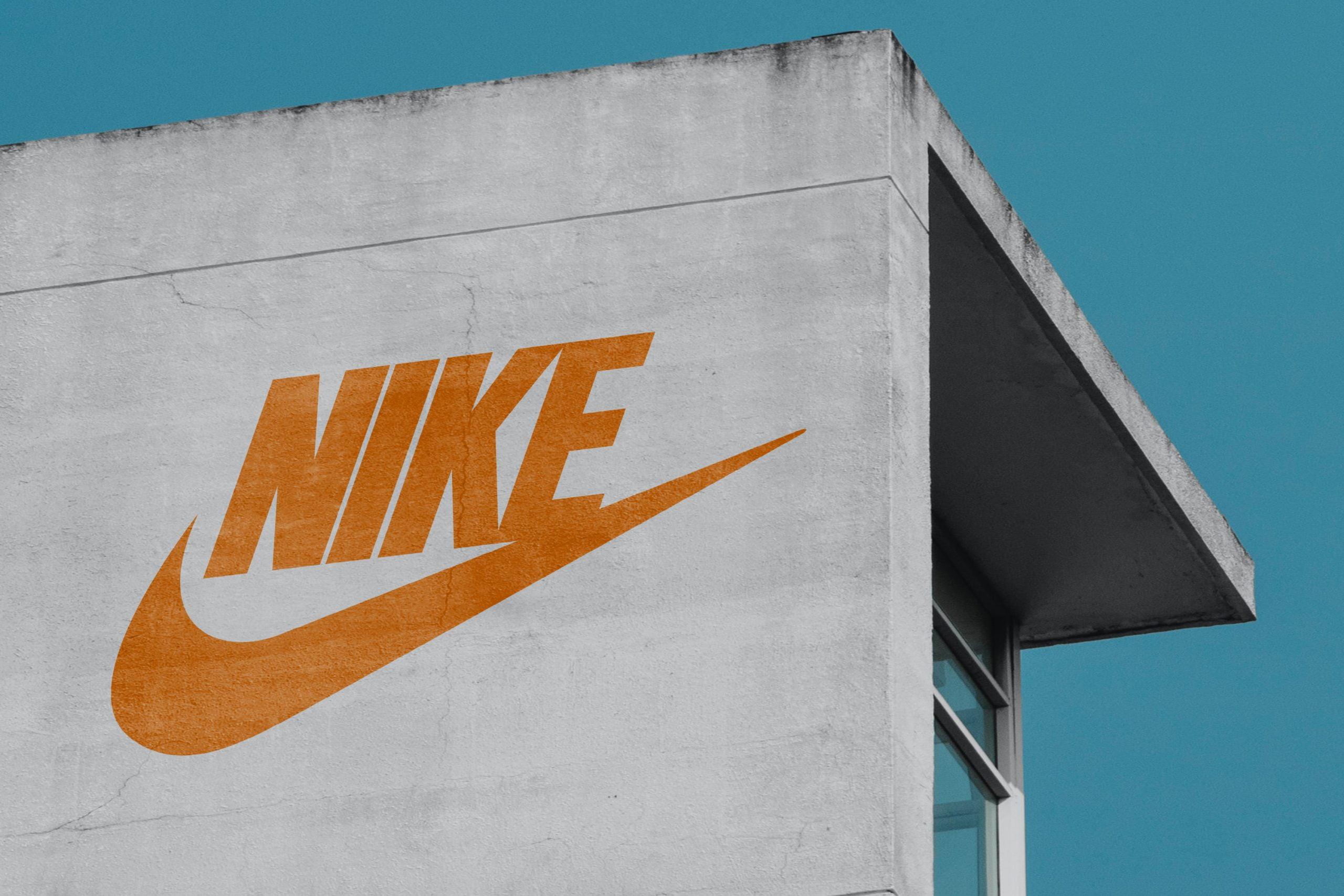 Old White building Logo Mockup Download