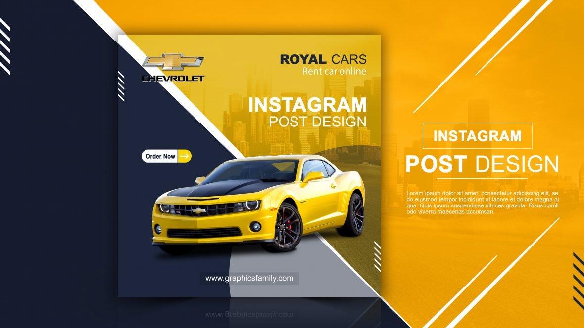 Rent Car For Social Media Instagram Post Banner Design
