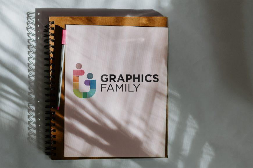Shadow On Book Logo Mockup