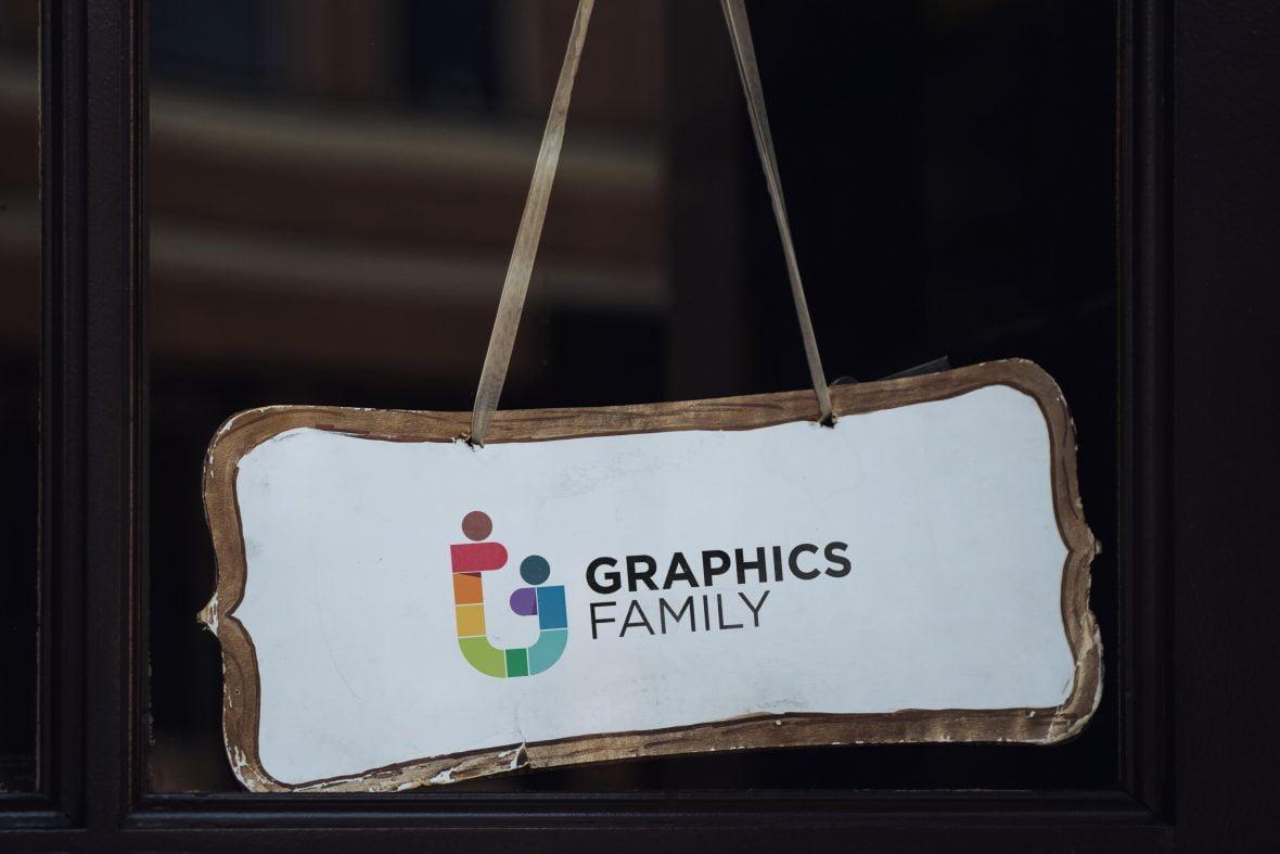Shop Hanging Sign Board Logo Mockup
