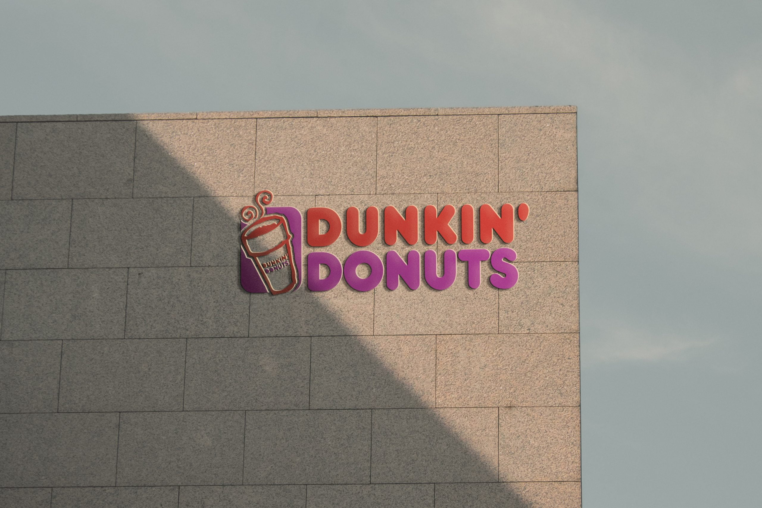 Sunset Wall 3D Logo Mockup Free