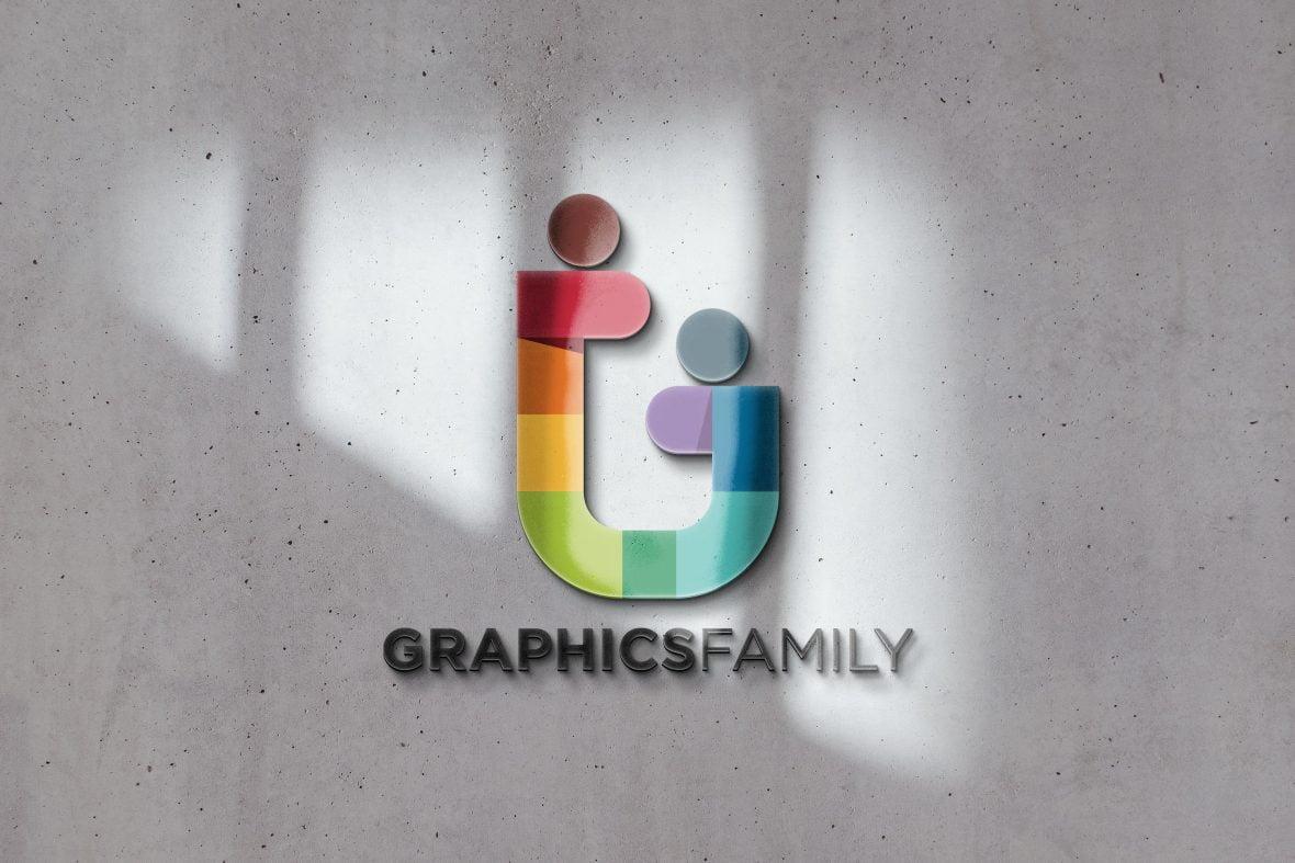 Sunshade 3D Logo Mockup