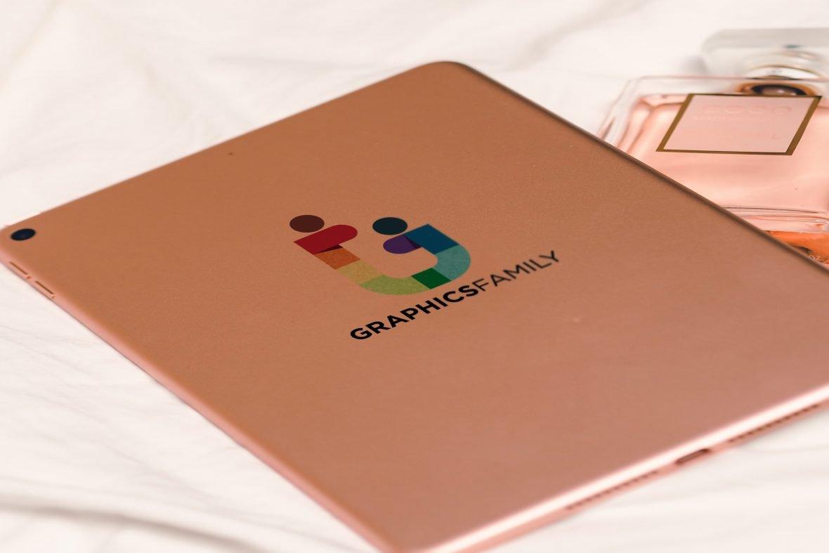Tablet Back Logo Mockup