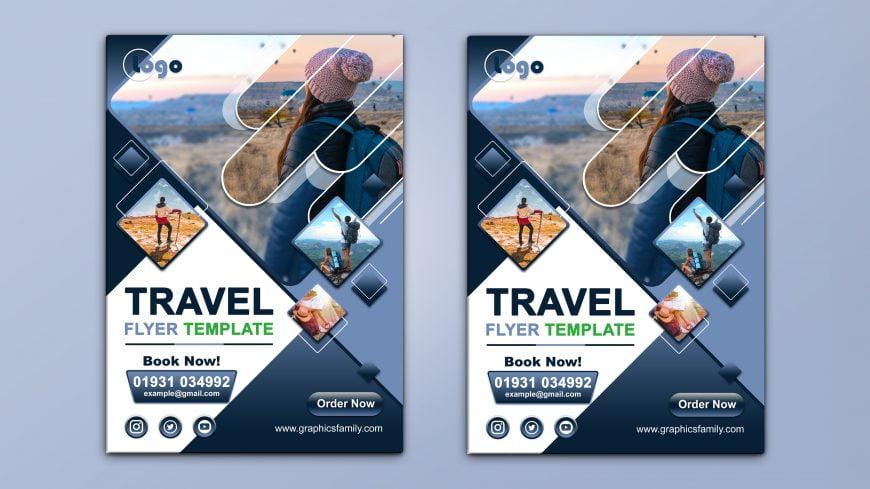 Travel A4 Flyer Design