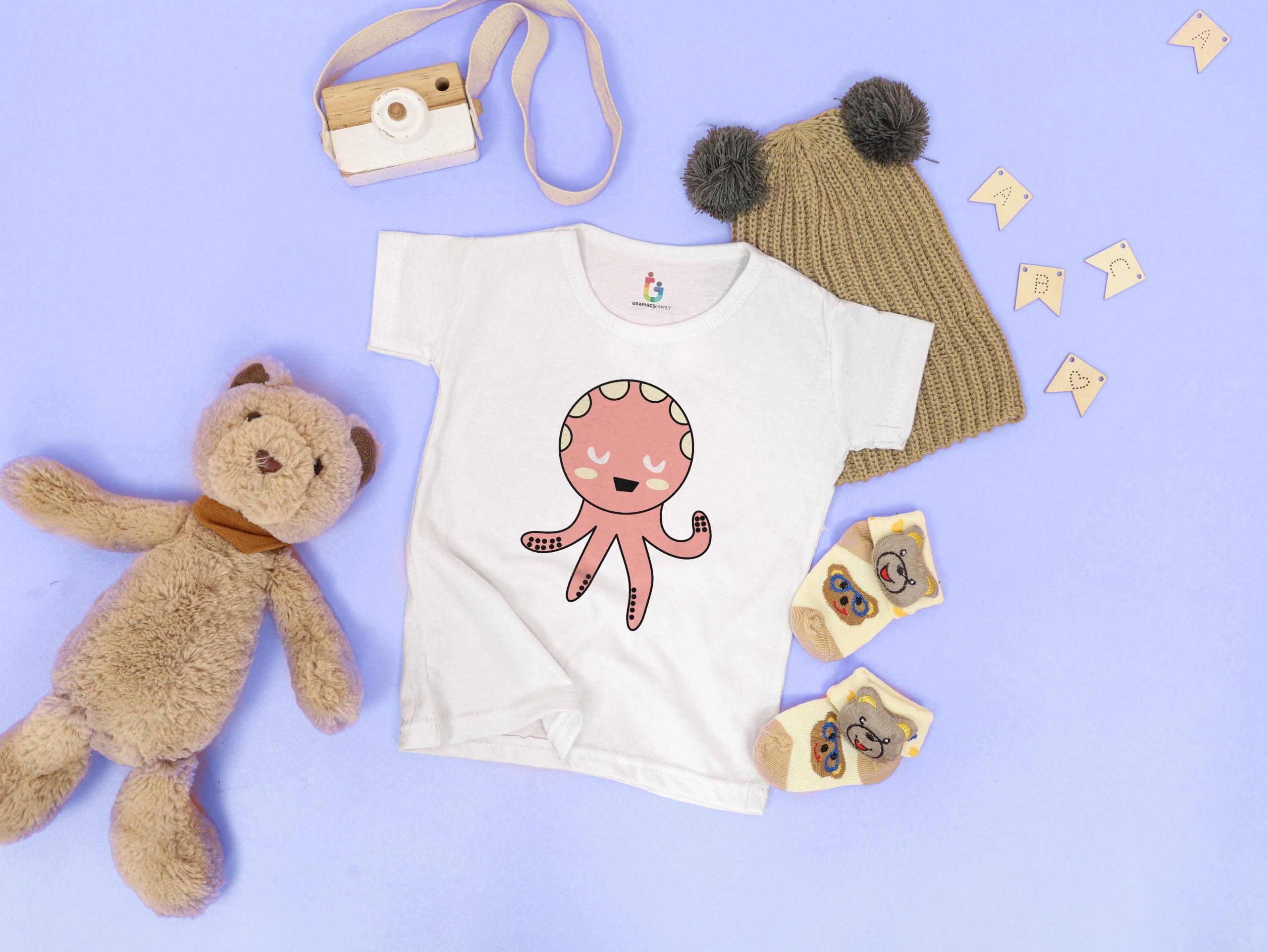 Tshirt Mockup Baby Girl Free Download