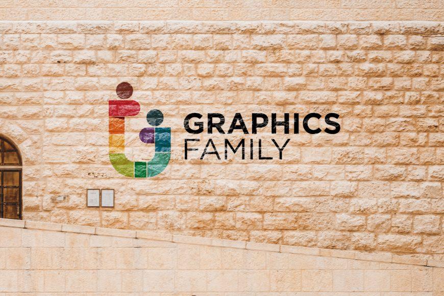 Vintage Bricks Wall Logo Mockup