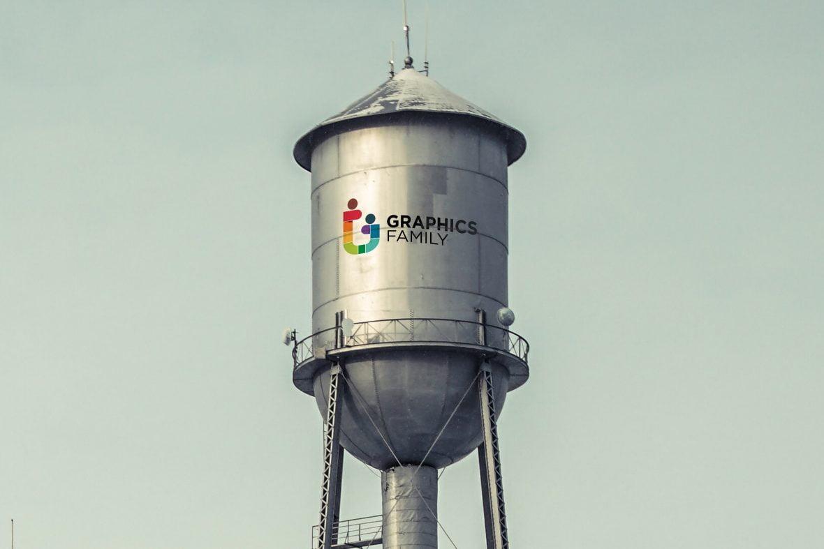 Water Tank Logo Mockup