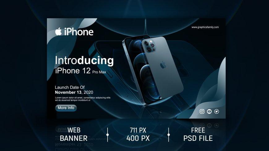 iPhone Website Ad Banner Design